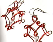 Clearance - Red Wire Earrings