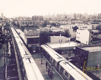Manhattan Rail 5x7 Photo Print, New York City Photography