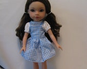 Dorothy from Wizard of Oz outfit for Corolle Les Cheries or Hearts for Hearts Girls