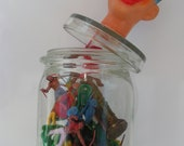 Glass jar, organizer, storage can, pot to store little things as toys, pasta, biscuits, candy  - Punch -