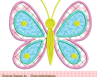 Butterfly Machine Embroidery Applique Design - 4x4 5x5""