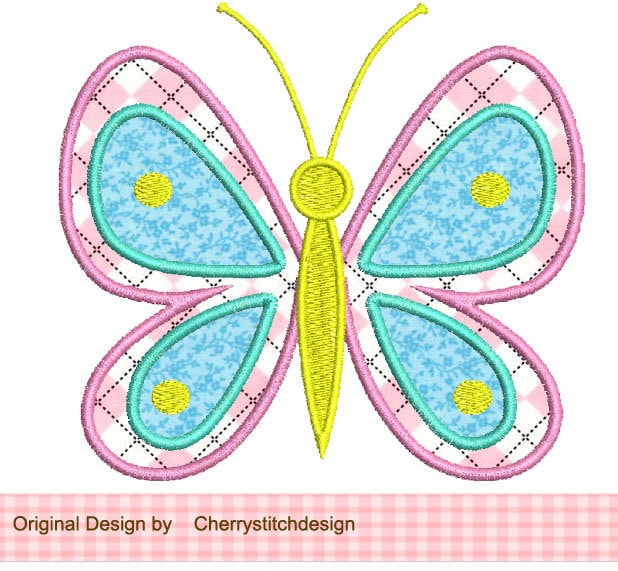 Butterfly machine embroidery applique design spr