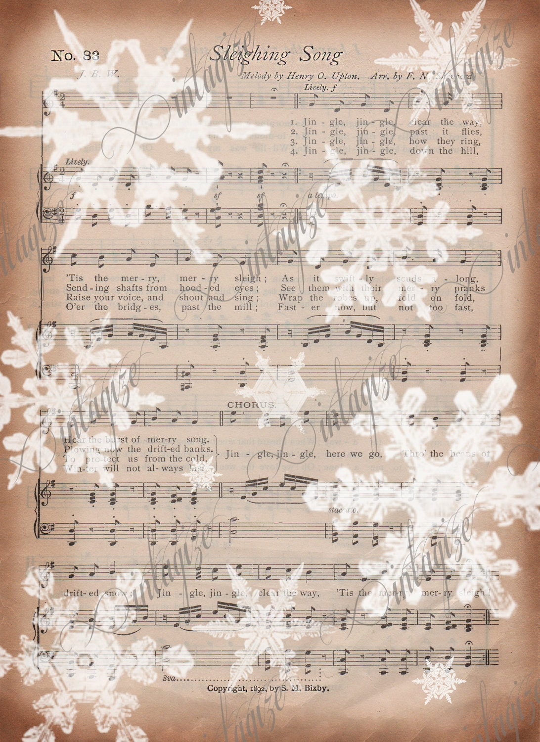 Agile image inside printable sheet music for crafts