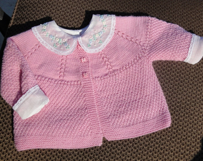 Kit - Baby Rose Sweater to Knit - pattern and yarn