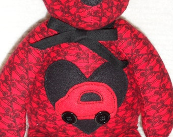 Handcrafted Red Teddy Bear