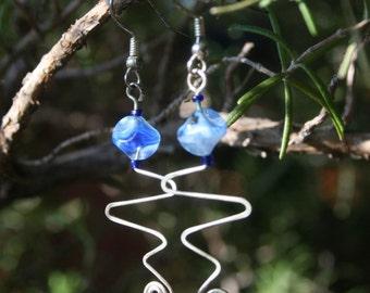Silver Wave Earrings