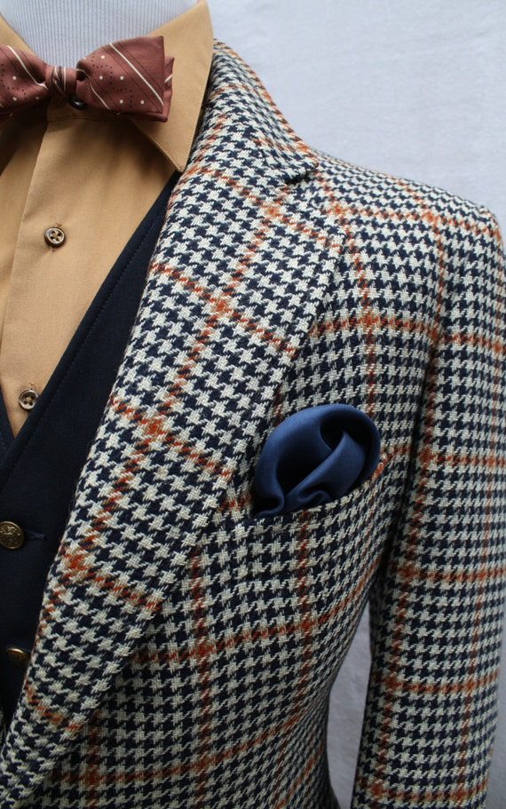 Items similar to Mens Vintage Hickey Freeman Houndstooth ...