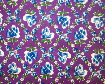 New Quilting Fabric BY the YARD, Feedsack Lilac by Susie Osburn for Blank Quilting, 1950s Retro Look, Purple Floral Fabric, Home Sewing