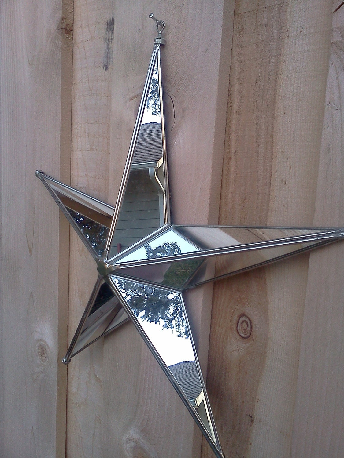 Vintage Decorative Star Mirror Christmas By Vintageestatelore
