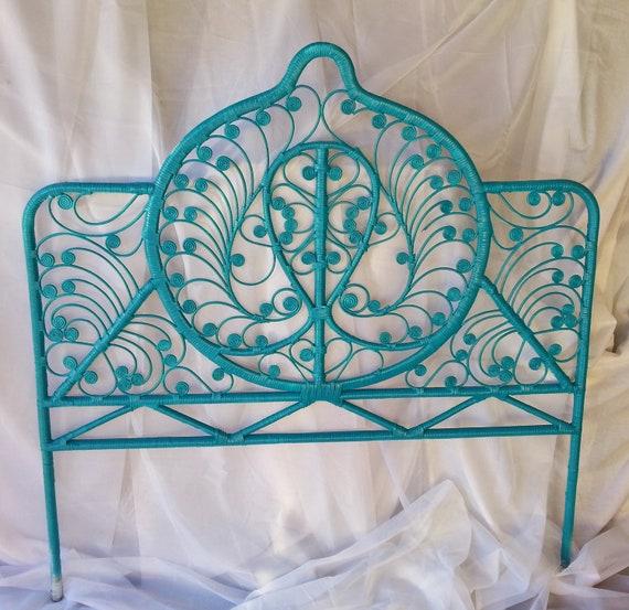 rare vintage victorian wicker curly cue heart, Headboard designs