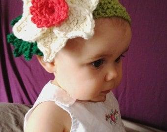Custom Baby Buttercup Crochet Flower Headband