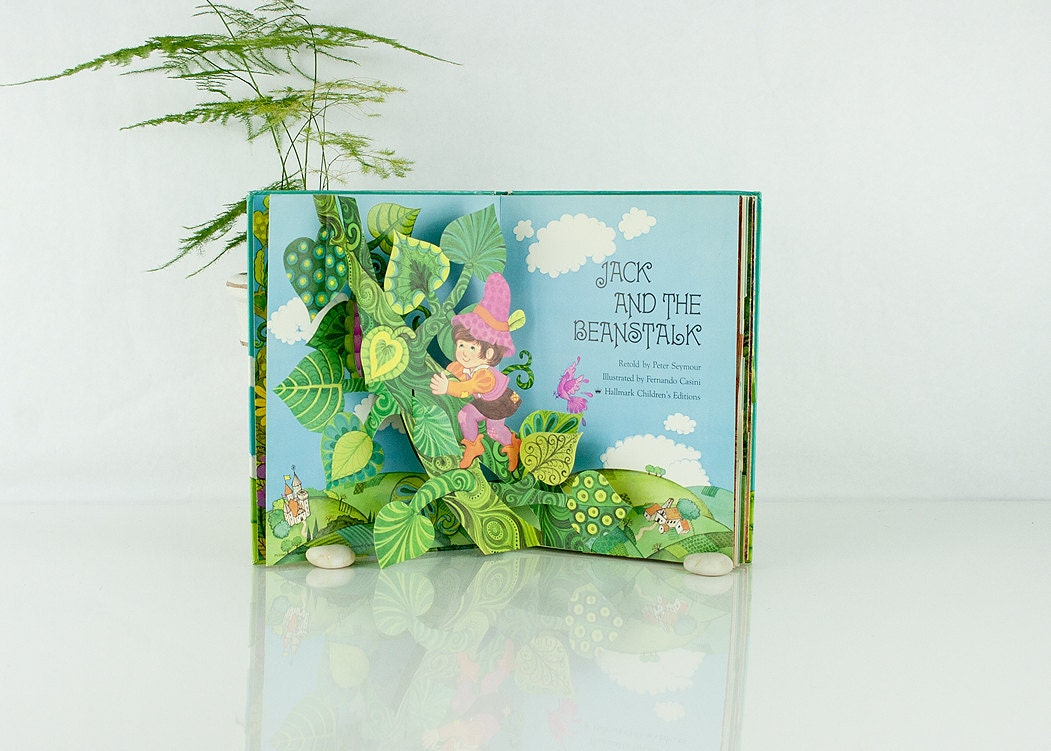 vintage jack and the beanstalk pop up book by sadrosetta