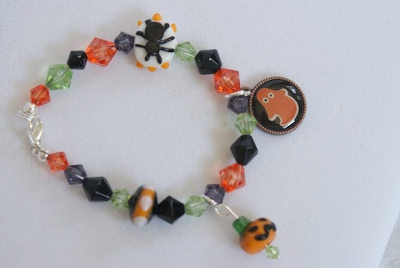 Spiders & Ghost - Halloween Bracelet