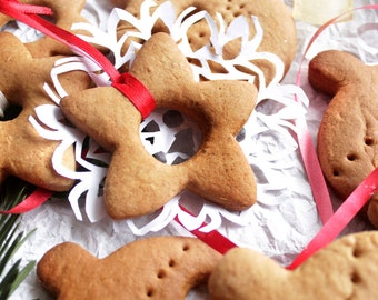 Christmas Cookies. Christmas Decor.  Ginger Cookie. Gingerbread Decor. Cookies For Santa Plate. Milk and Cookies Party, Star Ornament