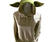 The Original Yoda Wise Space Alien Inspired Made To Order Adult Hooded Sweatshirt