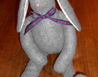Adorable 100% hand-sewn rabbit.