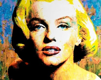 Marilyn Monroe - Fine Art  Limited Edition Giclee hand embellished by Mark Lewis