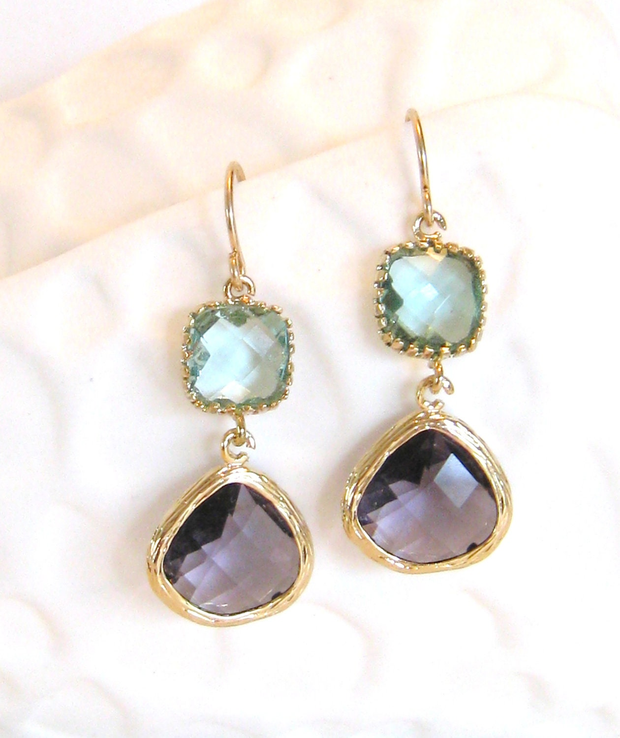 purple earrings aqua earrings gold earrings by loveshinebridal. Black Bedroom Furniture Sets. Home Design Ideas
