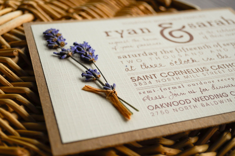 Diy Wedding Invitations Online: Rustic Lavender Wedding Invitation Suite // 5x7 // DIGITAL