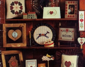 Hearts for Stitchin' cross stitch pattern book