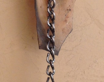 Stone Chain and Found Object #2