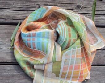 Silk scarves hand painted batik technique.