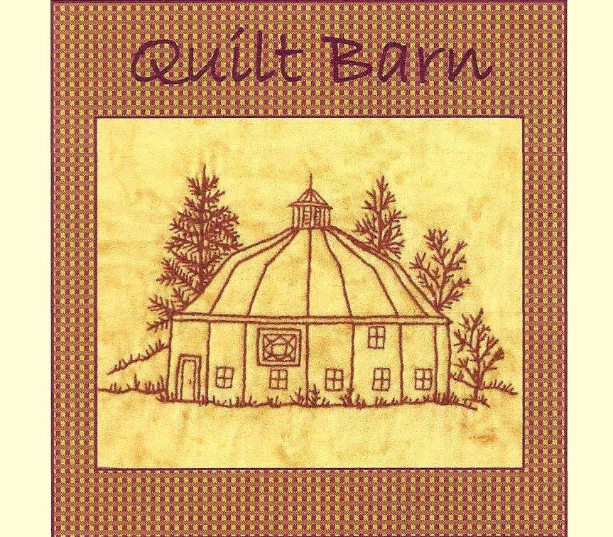 Quilt Barns Square In Diamond Redwork Hand Embroidery