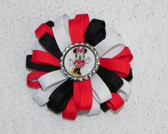 Minnie Mouse Inspired Loopy Bow With Center