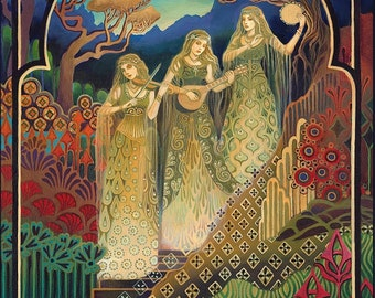 The Sisters of Mercy Pagan Music Goddess Art 8x10 Print Psychedelic Pagan Gypsy Witch Bohemian Mythology Goddess Art