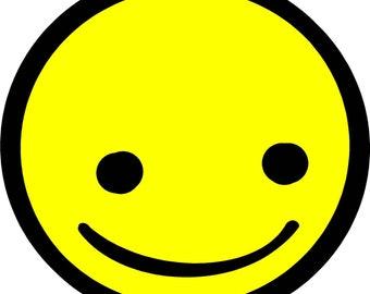 "Smiley Face 4"" Decal Vinyl Sticker by Tonyabug Sticker Momma"
