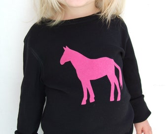 Childrens Horse T shirt Organic Cotton