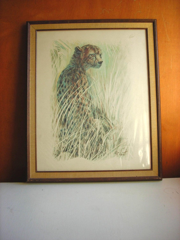 Large Framed Animal Print R F Harnett By