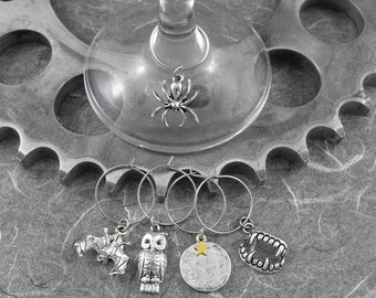 Night Creatures Halloween Wine Charms - All Hallows' Eve by COGnitive Creations