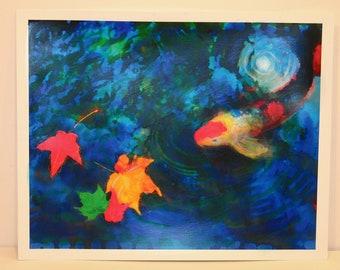 After the storm, 11x14, Original Signed, Fine Art altered Photogograph, Koi wall art, Home decor, art, Wall decor, blue decor