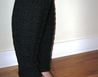 Black Cable Knit Leg Warmer CLEARANCE