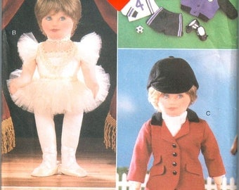 Vogue 9528 580 DOLL CLOTHES Sewing Pattern for 18 Inch Dolls Linda Carr Costume Activity Equestrian Ballerina Wardrobe Pattern UNCUT
