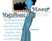 BOGO PRINT SALE- Magnificent Moon- African American Art Black Art Print