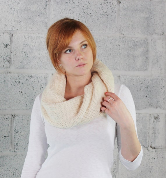 SALE Wool Twist Cowl in Natural - Ready to Ship