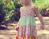 PDF Pattern Twirly Girly Boutique Dress Juvie Moon  E Book Tutorial  Liddy  DIY  Size 18 months to 12 years