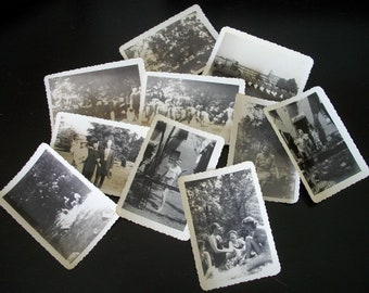 Commencement Ceremony Brownie Camera Photographs Collection of 10 Vintage Photos Paper Ephemera