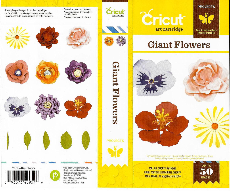 Sale Giant Flower Cricut Cartridge To Use In All Cricut
