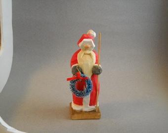 Santa Wood hand carved figure