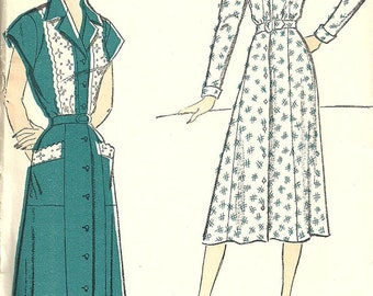 New York 793 / Vintage 50s Sewing Pattern / Dress / Size 14