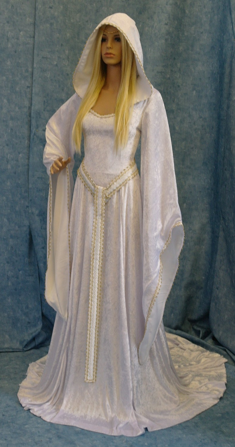 Elven dress wedding dress cosplay dress larp by for Elven inspired wedding dresses