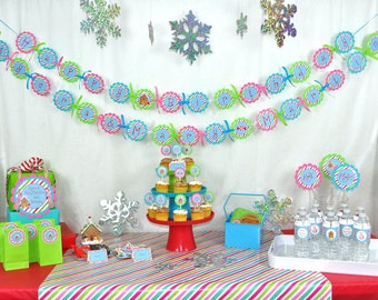 Gingerbread Birthday Banner - Winter Birthday Party Decorations - Christmas Party Banner - Gingerbread Decorating Party