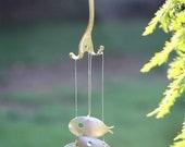 Spoon Fish Wind Chimes - Minnow sized,wind chimes, flatware, silverware, garden art, metal windchimes, fish silverplate, wholesale,koi pond