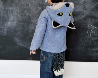 Child's Wolf Coat// Grey Wolf// Baby Wolf Jacket