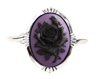 Rose Cameo Bracelet Cuff - Gothic Jewelry