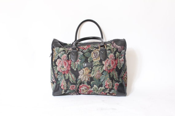 Floral Print Carry On Duffle Bag