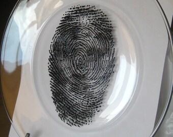 3D Fingerprint Face Plate-3D Paint-Large Glass Plate-Midnight Black